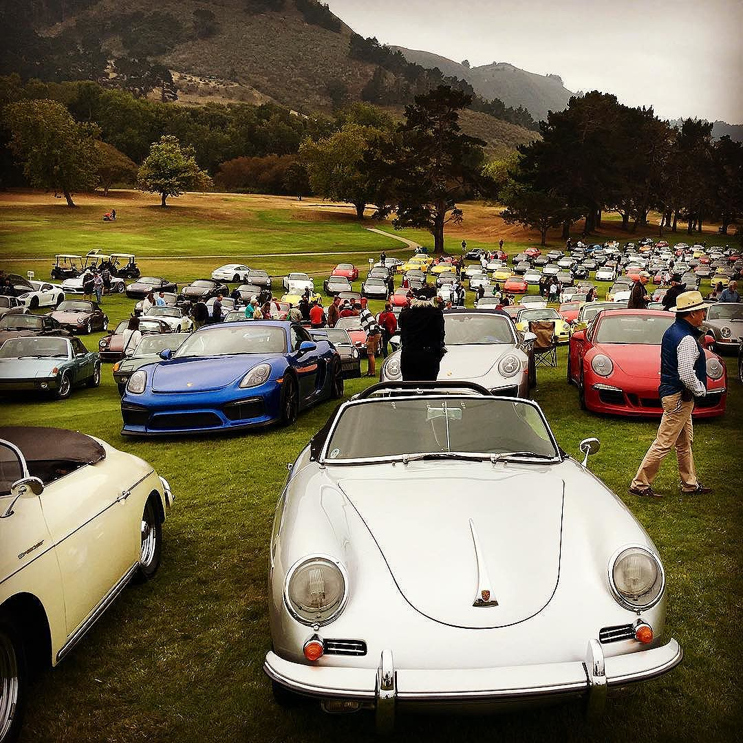 187 Sea Of Porsche Today At The Quail Can T Find The End