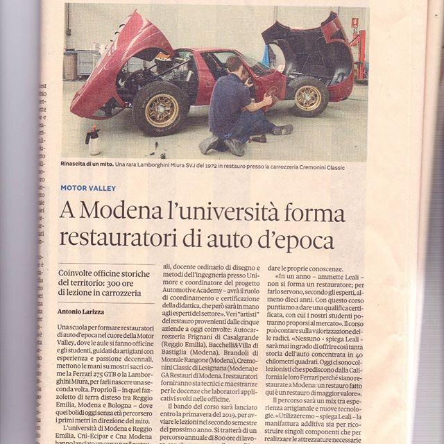 Sharing knowledge🏻🛠🏎. Condividere passione e conoscenza per formare nuovi talenti http://mobile.ilsole24ore.com/solemobile/main/art/impresa-e-territori/2018-11-12/ferrari-lambo-maserati-a-modena-l-universita-forma-restauratori-auto-d-epoca-145715.shtml?uuid=AE2f8LfG . . . . .