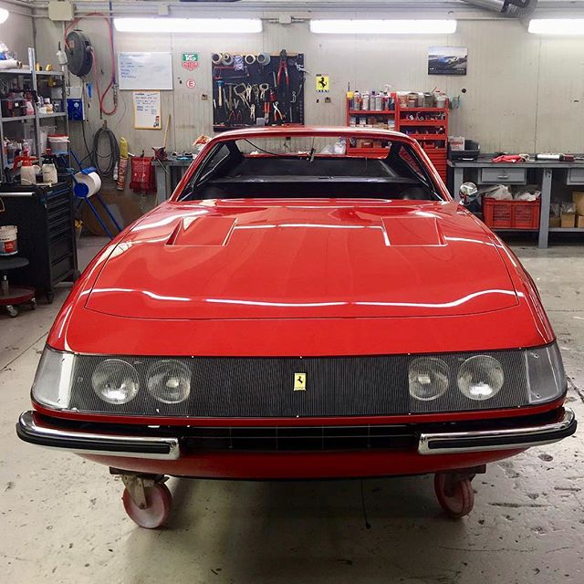 Ferrari 365 GTB/4 chassis 12481, the 6th Daytona produced, is going to be ready for the trim. On page 6 of the owner manual you can see the pictures of the number of this car. Swipe_ – – – #365GTB/4