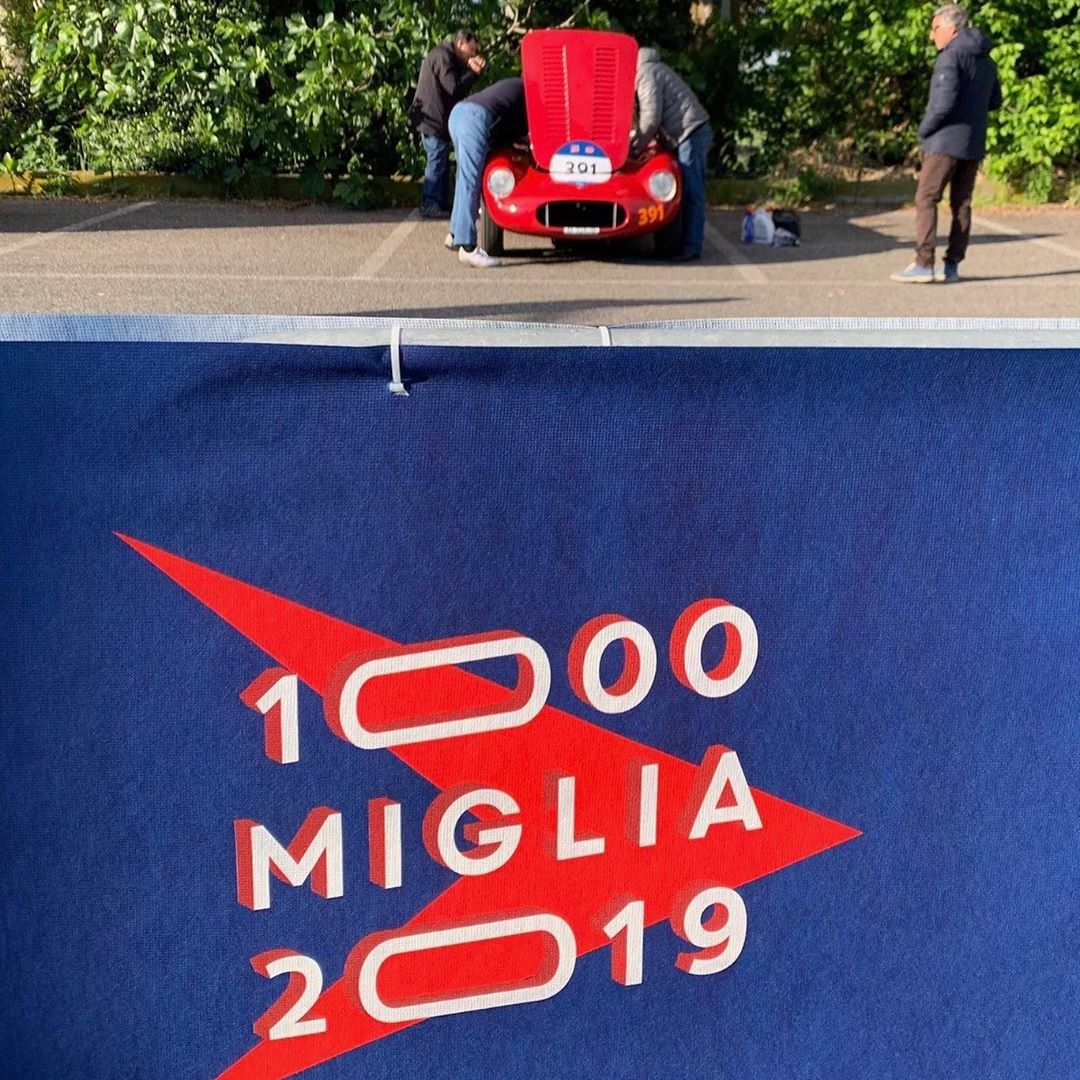 Day 3 of Mille Miglia 2019: warming up and getting ready to start the third leg towards Bologna  🌞 * – – –