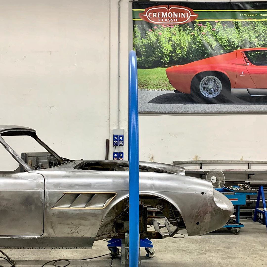 Continued metal work on Ferrari 330 GTC⚒ – – –