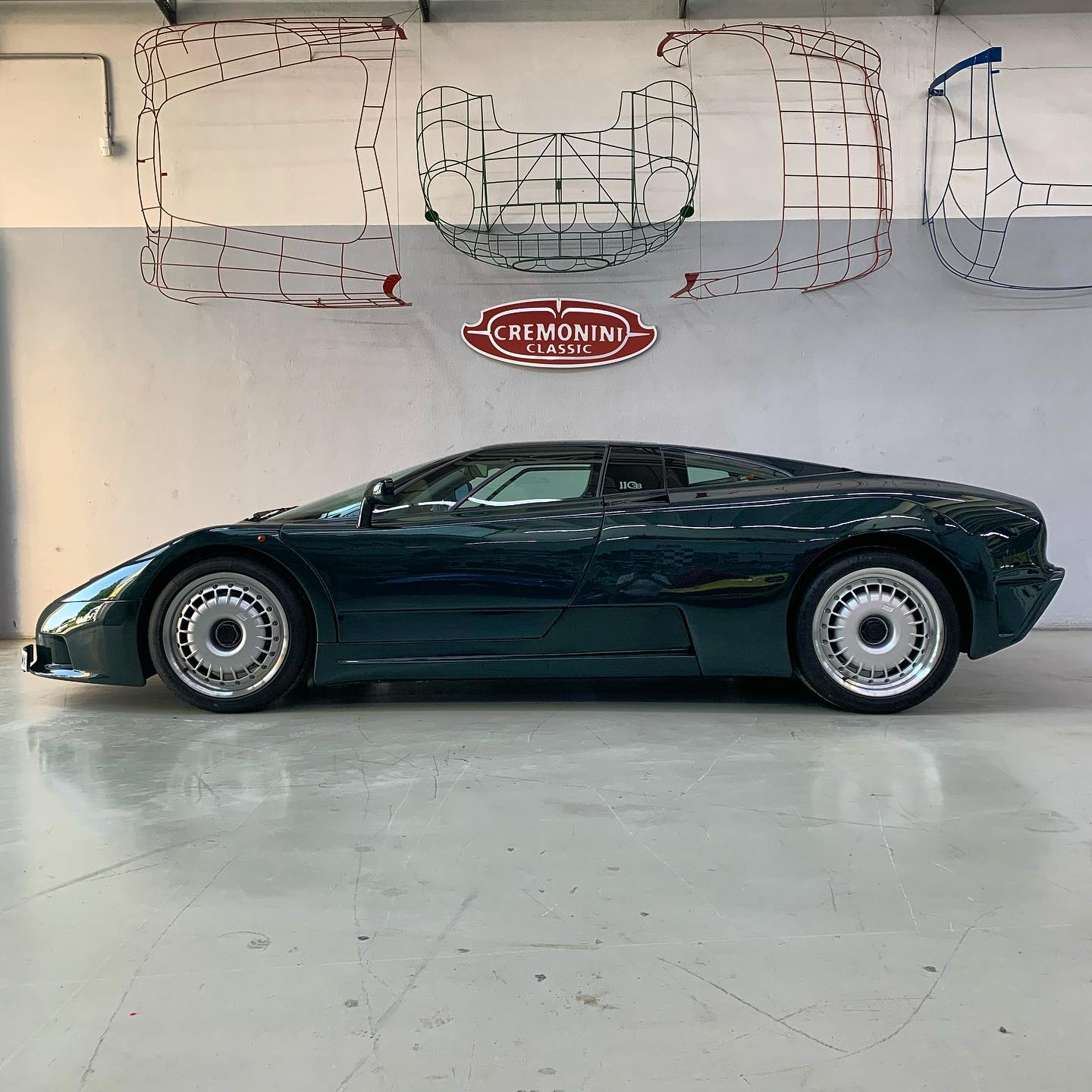 We couldn't have asked for a better delivery on our last work day before Summer break: this impressive Bugatti EB 110 is now heading to her new home  – – – #bugattieb110 #supercars #italianstyle #classiccars #doosetdaram #bugatti #eb110 #britishracinggreen #bugatticampogalliano #motorvalley #cremoniniclassic #ilovemyjob